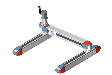 Two parallel belt-drive axis surmounted by a transversal axis, Shak Gantry Elektro Series